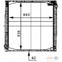 chladič vody SCANIA 4 bez rámu